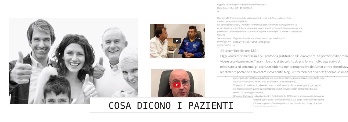 La mia esperienza personale con il Dottor Carlo Orione: Miodesopsie