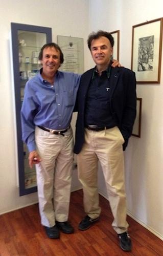 Scotto Geller (sx.) e Carlo Orione