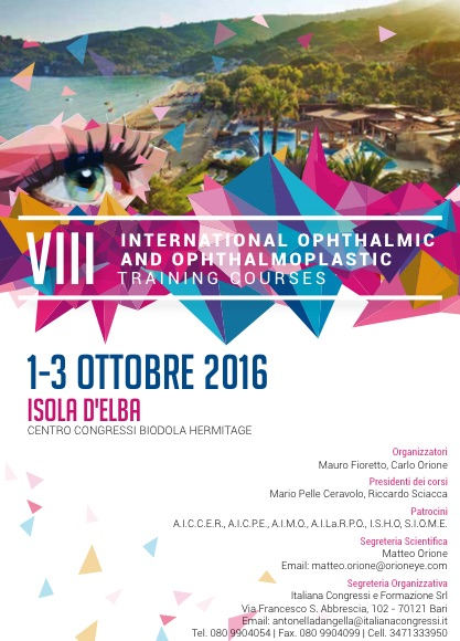 10.2016 | 8° International Ophthalmic & Opthalmoplastic Course – Elba
